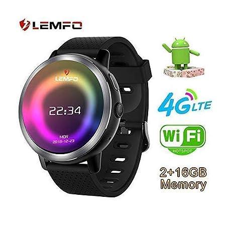 RENYAYA LEMFO LEM8 - Reloj Inteligente Android 7.1.1 4G, cámara de ...