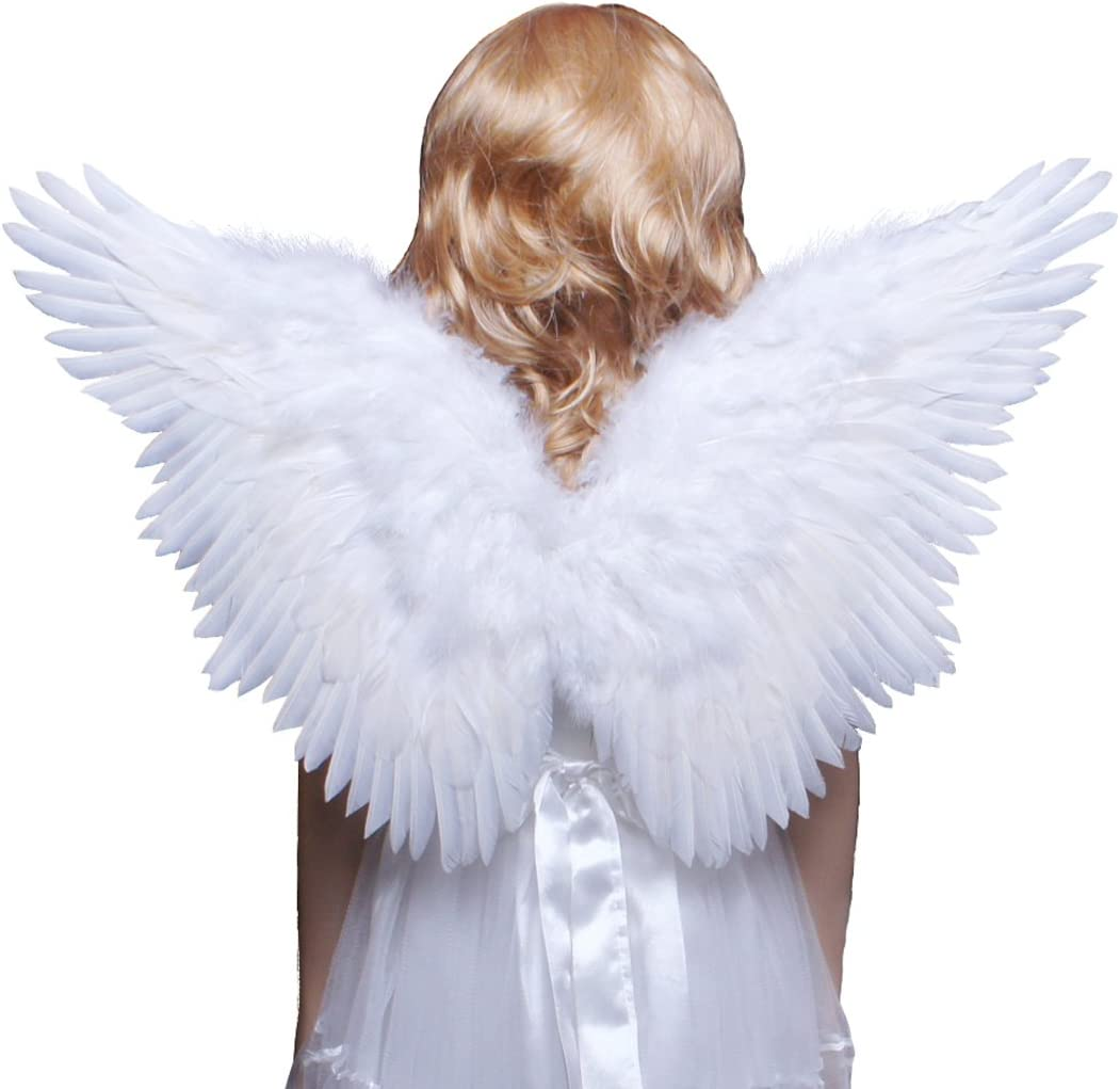 Quality Christmas Angel Fairy Nativity Costume Halo Wings Size L Age 10-12