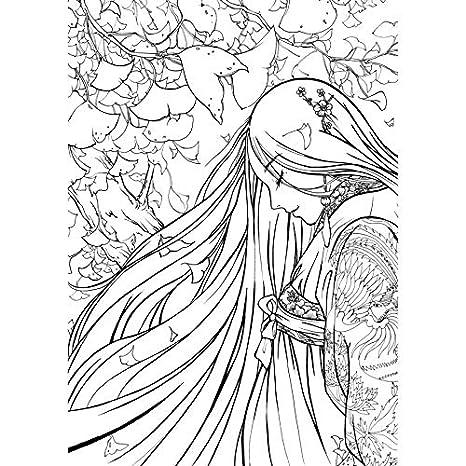 Cuaderno de dibujo con línea de libro para colorear chino ...