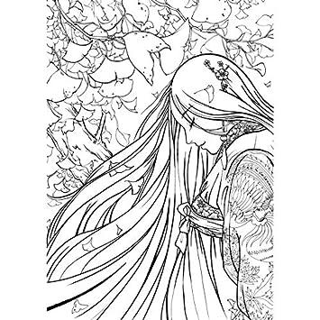 Libro da colorare creativo cinese, per schizzi e disegno, stile ...