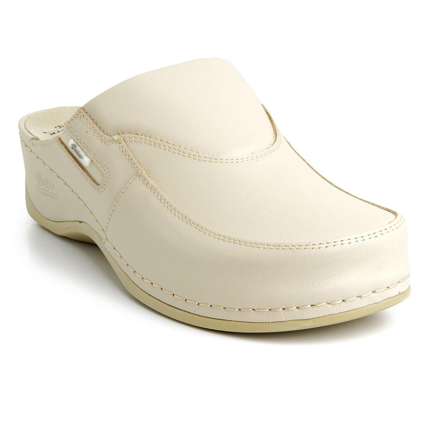 Batz FC10 Zuecos Zapatos Zapatillas de Cuero Para Mujer 38 EU|Beige