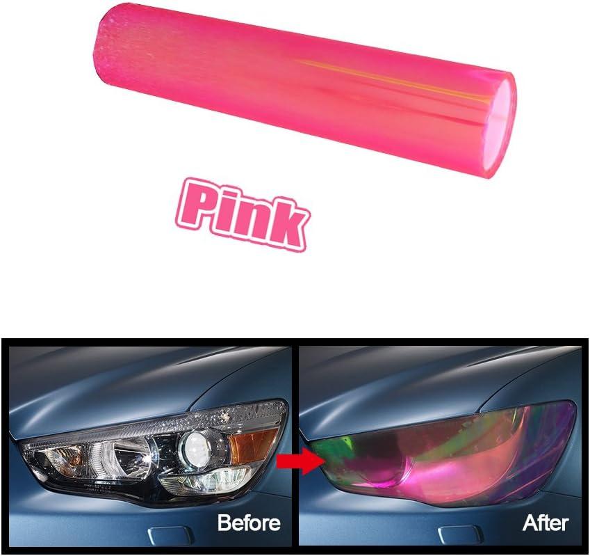 "*12/""x60/"" Glossy Hot Purple Tint Headlights Fog Lights Sidemarker Vinyl Sticker"