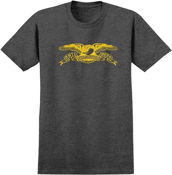 Anti Hero Skateboard Hoody Sweatshirt Basic Eagle Charcoal//Gold