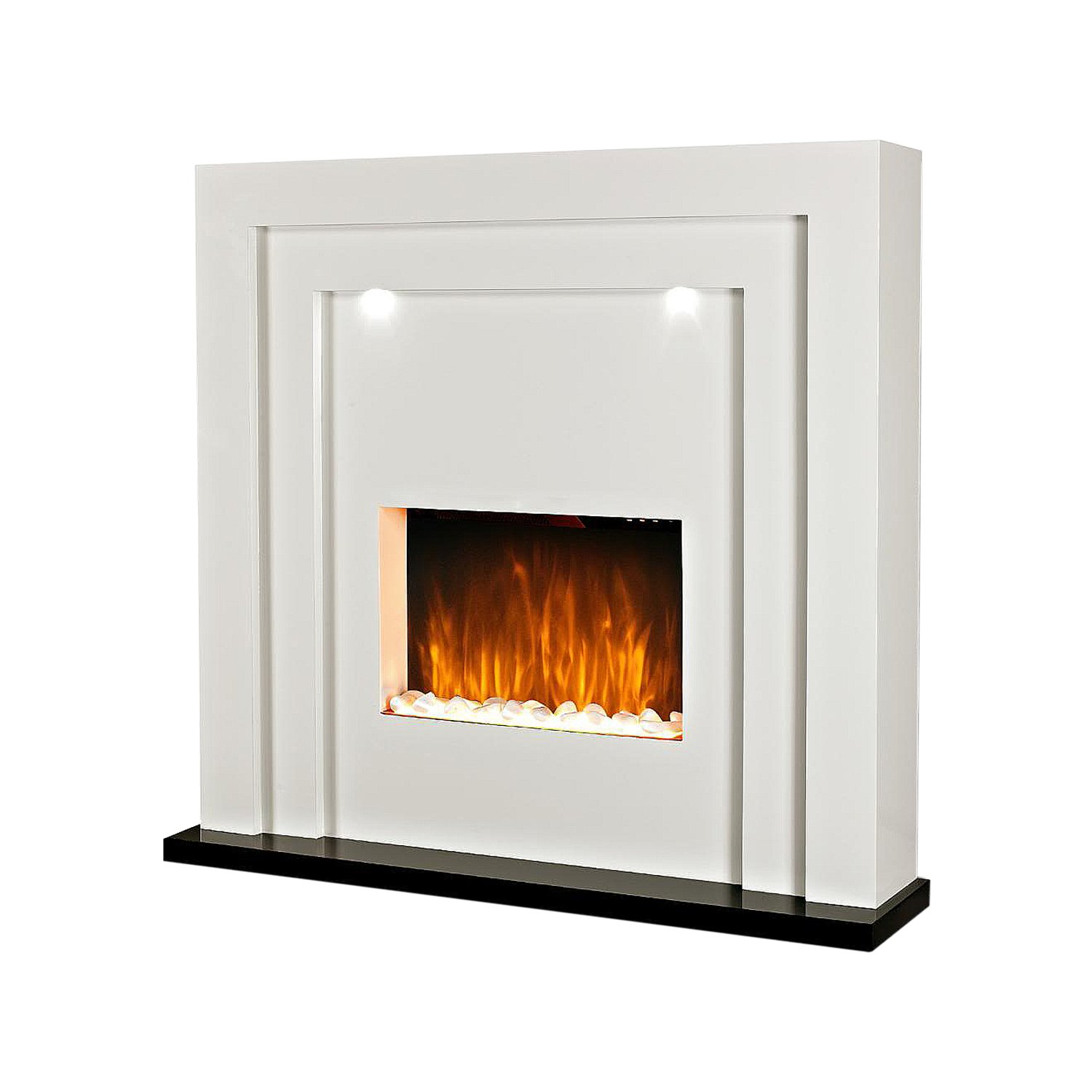 Magnificent Electric Fireplace Fire Surround Living Room Floor Standing Led Lights Mdf Inset Home Interior And Landscaping Ologienasavecom