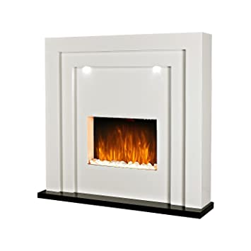 Electric Fireplace Fire Surround Living Room Floor Standing Led