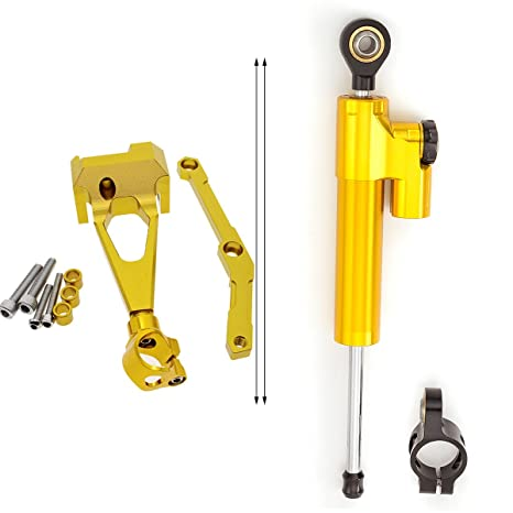 FXCNC Racing Motorcycle CNC Steering Damper Stabilizer Buffer Control Bar With Mounting Bracket Kit Full Set Fit For YAMAHA MT-09 FZ-09 MT09 FZ09 2013 ...