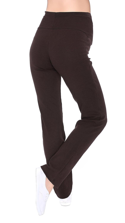 Mija Pantalones yoga c/ómodos casuales de maternidad Sobre la barriga 3010