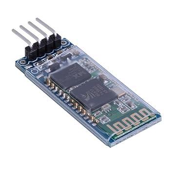 HiLetgo HC-06 RS232 4 Pin Wireless Bluetooth Serial RF Transceiver Module  Bi-Directional Serial Channel Slave Mode for Arduino
