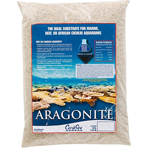 White Marine Sand (Carib Sea Aragonite Aquarium Sand, 10 lbs, Tan)