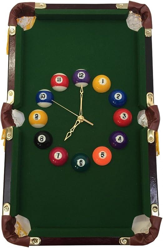 Reloj en forma de mesa de billar – horas de bolas de billar ...