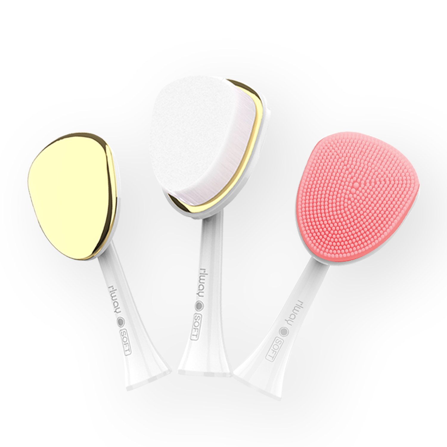3 in 1 Advanced Cleansing System with Facial Brush for Exfoliating and Microdermabrasion rlway