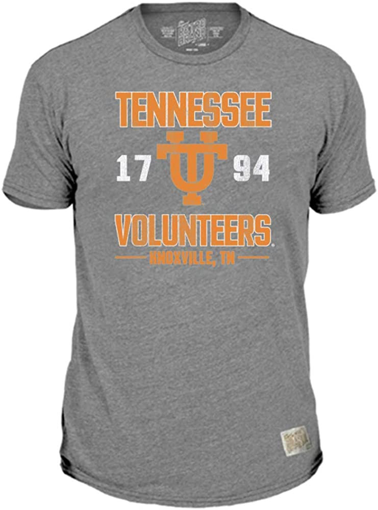 Original Retro Brand NCAA Gray Distressed T-Shirts - Established with Home Town