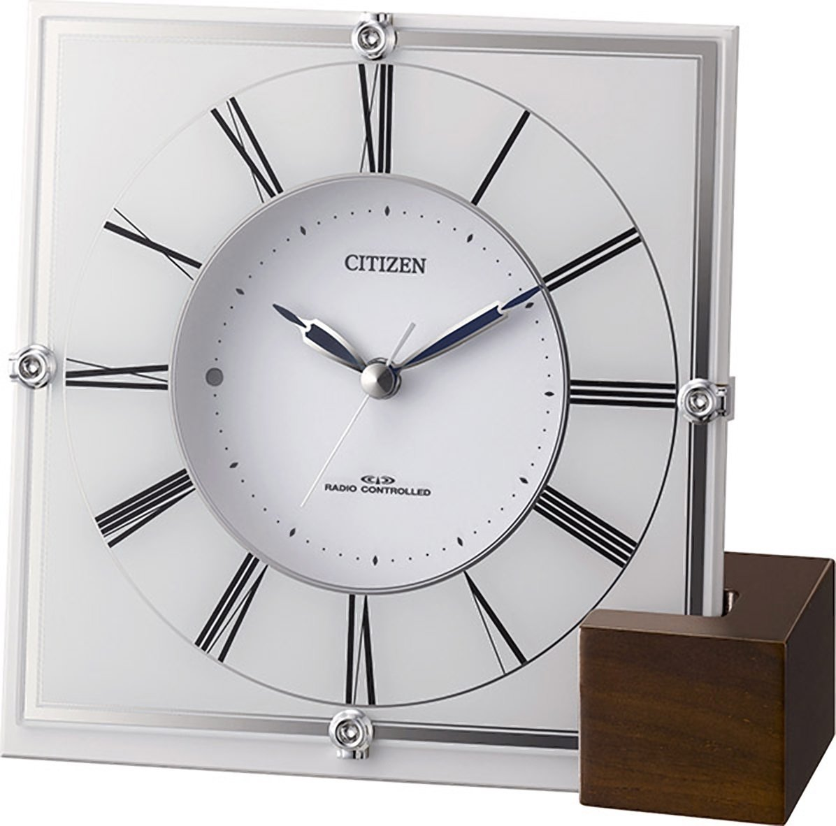 CITIZEN ( シチズン ) 電波 置き時計 マリアージュ707 プラスチック枠 / 木製台座 4RY707-003 B00GXT1R0E