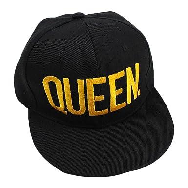 Minetom Hombre y Mujer Chic Casual Hip Hop Queen y King Sombrero Bordado Snapback Ajustable Moda Gorra De Béisbol: Amazon.es: Ropa y accesorios