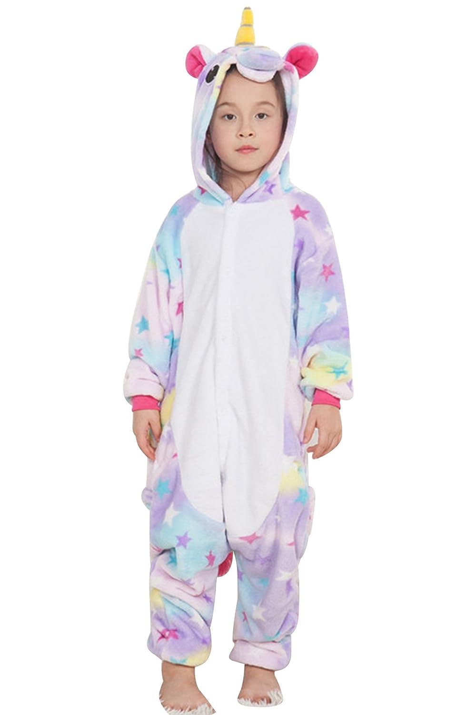 MRJO Kids Unisex Cosplay Pajamas Onesie Unicorn Costume Animal Soft Sleepwear Gifts