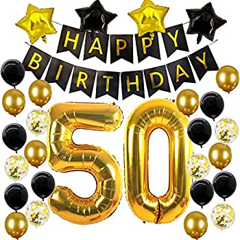 Amazon.com: 50th Birthday Decorations,50 Birthday Balloons ...