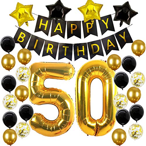 50th Birthday Party Decorations Balloons For 50 Men Or Women Birthday Party Supplies