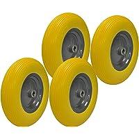 4 ruedas de carretilla de poliuretano 4.80/4.00-8, antipinchazos