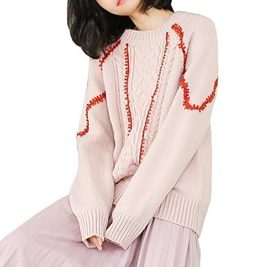 001bf0480d236 ニット セーター トップス レディース プルオーバー 韓流風 カジュアル モッズ 大人可愛い 無地 冬服 (