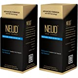 NEUD Natural Hair Inhibitor for Permanent Reduction of Unwanted Body & Facial Hair in Men & Women - Pack of 2