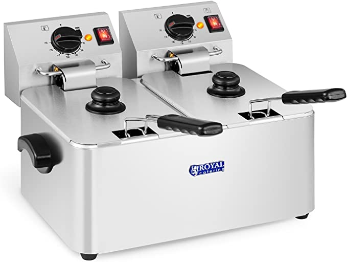 Royal Catering Freidora Doble Industrial Eléctrica Profesional ...