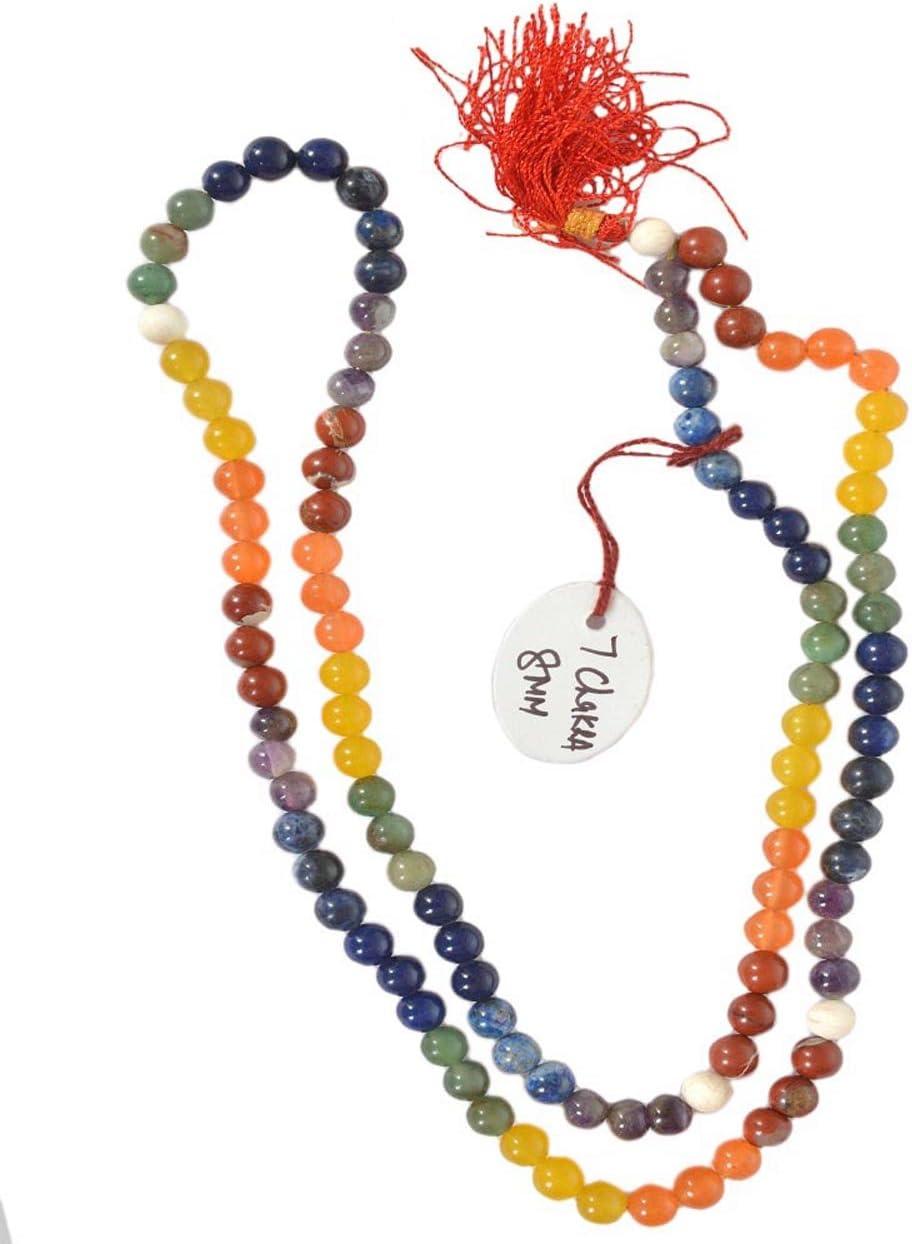 108 Bead Handknotted Yoga Spiritual Junkies Quartz Crystal Mini Mala Indian Agate Meditation 6 mm