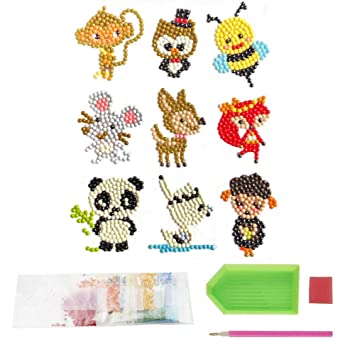 Animals sweety pop Diamond Painting Stickers Kits for Kids,Diamond Kits Paint by Numbers Diamonds,Arts and Crafts Kits for Children and Beginner Adults
