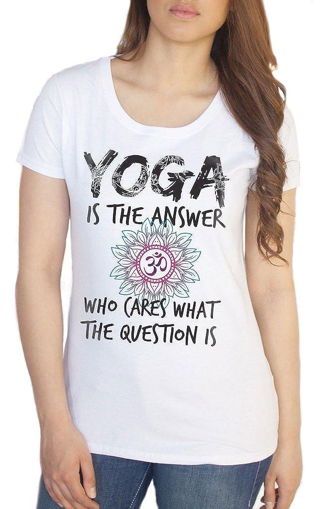 Irony La Camiseta Blanca para Mujer La Yoga ES La Respuesta ...