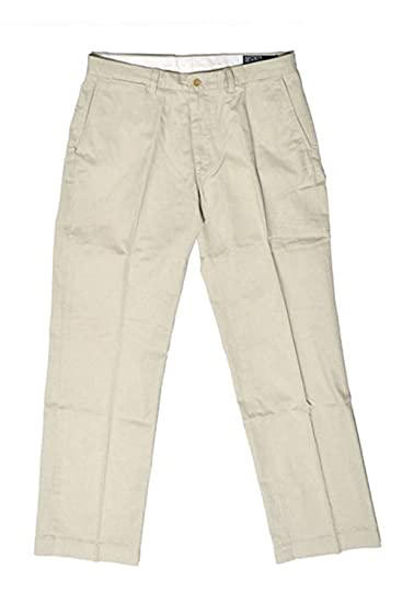 Fit Men's Pants Front Flat Polo Ralph Chino Classic Maritime Lauren oedBCrx