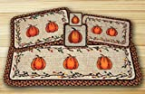 Harvest Pumpkin Wicker Weave Table Top Set - 12 Piece
