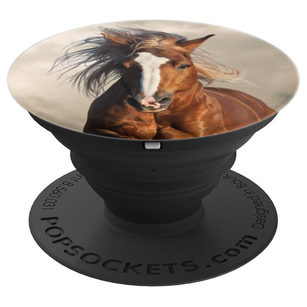 Silky Blonde Good Hair Brown Horse - Animal PopSocket - PopSockets Grip and Stand for Phones and Tablets