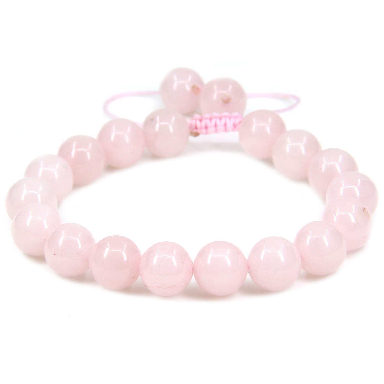 Handmade Gemstone 10mm Round Beads Adjustable Braided Macrame Tassels Chakra Reiki Bracelets 7-9 inch Unisex Amandastone JAMAN10M-KT-B1