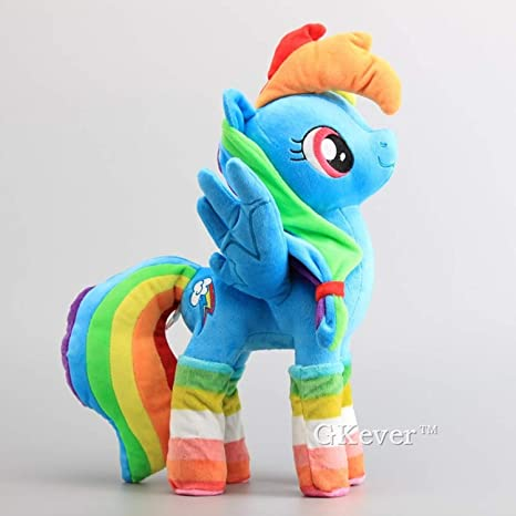 JEWH Horses Apple Jack Rainbow Dash Twilight Sparkle Rarity Soft Push Toy Dolls Stuffed Animals (