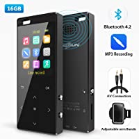 Musrun 16GB MP3 Player with Bluetooth 4.2 (Blak)