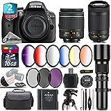 Holiday Saving Bundle for D3300 DSLR Camera + AF-P 70-300mm VR Lens + AF-P 18-55mm + 500mm Telephoto Lens + 6PC Graduated Color Filter Set + 2yr Extended Warranty + Battery - International Version