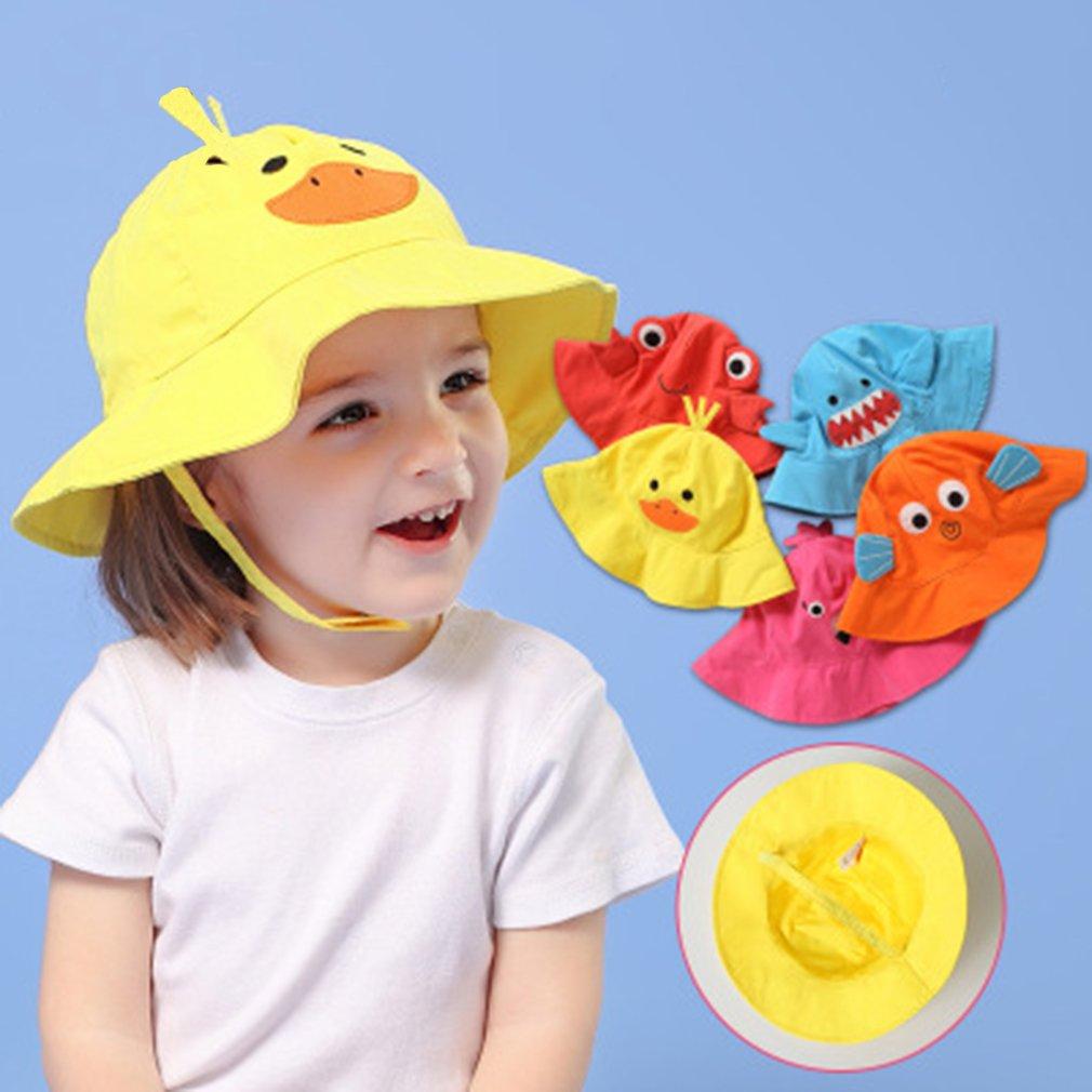 Ni/ñas Sombrero de Pescador con ala para Beb/é Ni/ños Verano Gorro de Playa Protecci/ón Sol Infantil Primavera Bucket Hat Lindo para Viajes Al Aire Libre Happy Cherry