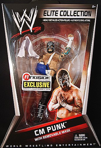 (CM PUNK - STRAIGHT EDGE SOCIETY RINGSIDE COLLECTIBLES ELITE EXCLUSIVE MATTEL WWE TOY WRESTLING ACTION FIGURE)
