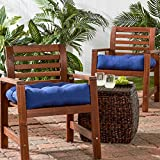 Greendale Home Fashions Indoor/Outdoor Chair Cushions, Marine Blue, 20-Inch, Set of 2