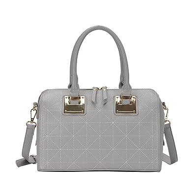 famous brand quite nice online store Amazon.com: Miztique Camille Satchel Bag: Grey - Mauve BGT ...