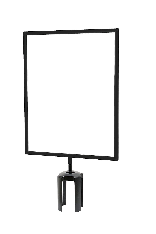 Black Vertical Tensabarrier FRAME-HDSC-33-1114LD-V Frame with Heavy Duty Sign Cone Light Duty 11 x 14