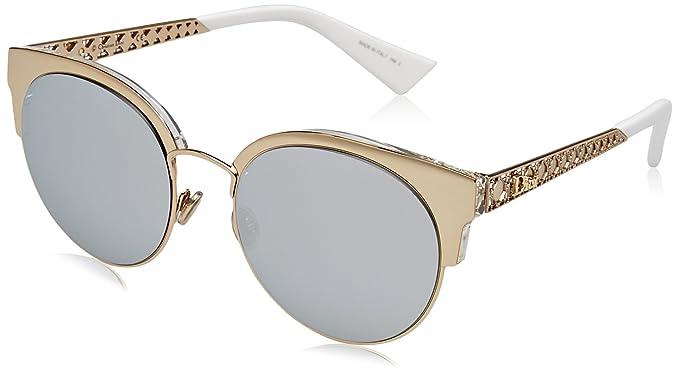 Christian Dior Damen Sonnenbrille DIORAMAMINI DC J5G, (Gold Extra White  Marl), 613ee9726aca
