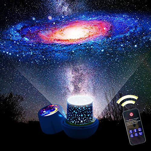 Star Night Lights for Kids, Remote Control Star Projector, with LED Timer, 360°Rotating Planet Night Lighting Lamps Starry Galaxy Sky Projection for Baby Bedrooms (Remote Flim-6 Set) ()