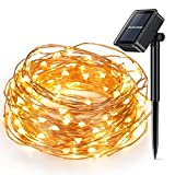 Solar Powered Christmas String Light, Kohree 100 Micro LEDs Light String With 33ft Long Ultra Thin String Copper Wire, Seasonal Decor Rope Light For Weddings, Garden, Patio, Tree, Party, Xmas
