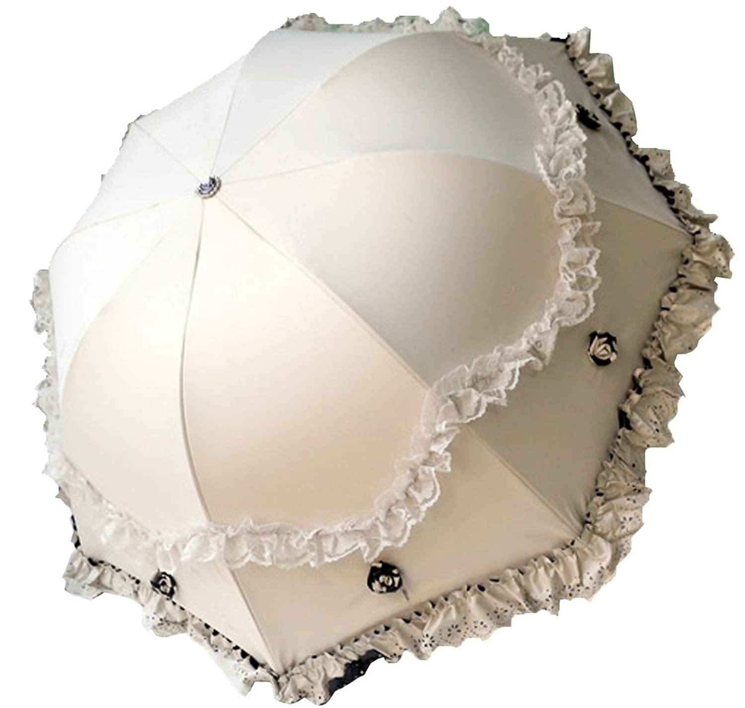 Vintage Inspired Wedding Accessories Supergirl Women Parasol Travel Compact Lace Sunshade Anti-UV Windproof Rain Umbrella $28.99 AT vintagedancer.com