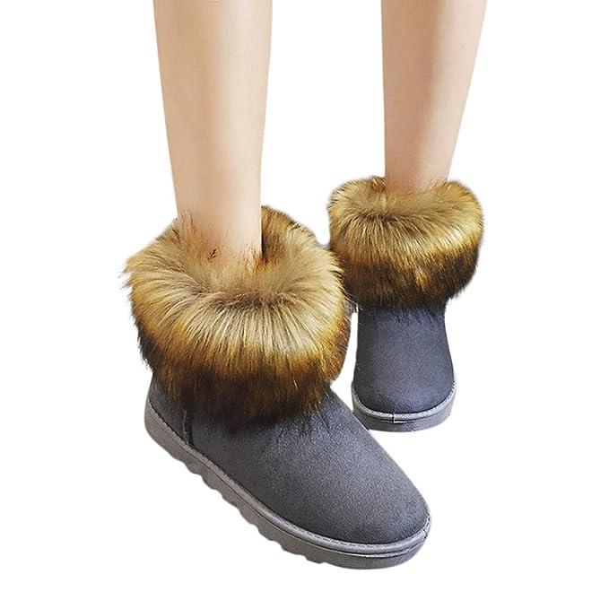 Viernes Negro JiaMeng Tobillo Navidad Snow Bootie Botas Cortas Calzado Calzado Calzado Otoño Invierno Calentar Cuñas de tacón Alto: Amazon.es: Ropa y ...