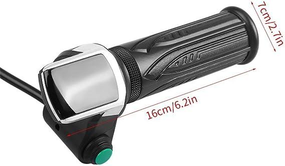 Vgeby morsetto per auto elettriche con impugnatura manopola 1/coppia manubrio acceleratore display LCD impermeabile bicicletta scooter 36//48/V