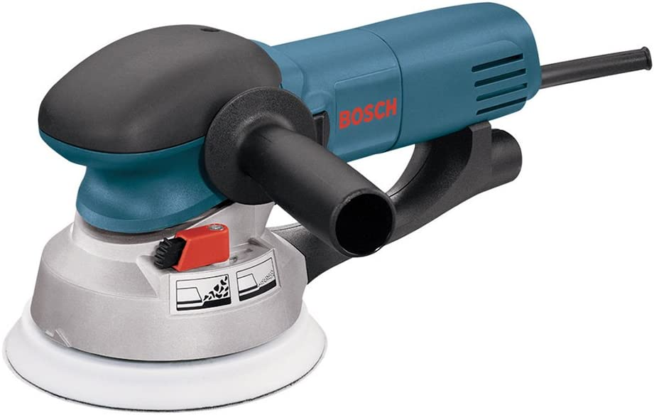 Bosch Power Tools – 1250DEVS – Electric Orbital Sander, Polisher – 6.5 Amp, Corded, 6 Disc Size – features Two Sanding Modes Random Orbit, Aggressive Turbo for Woodworking, Polishing, Carpentry