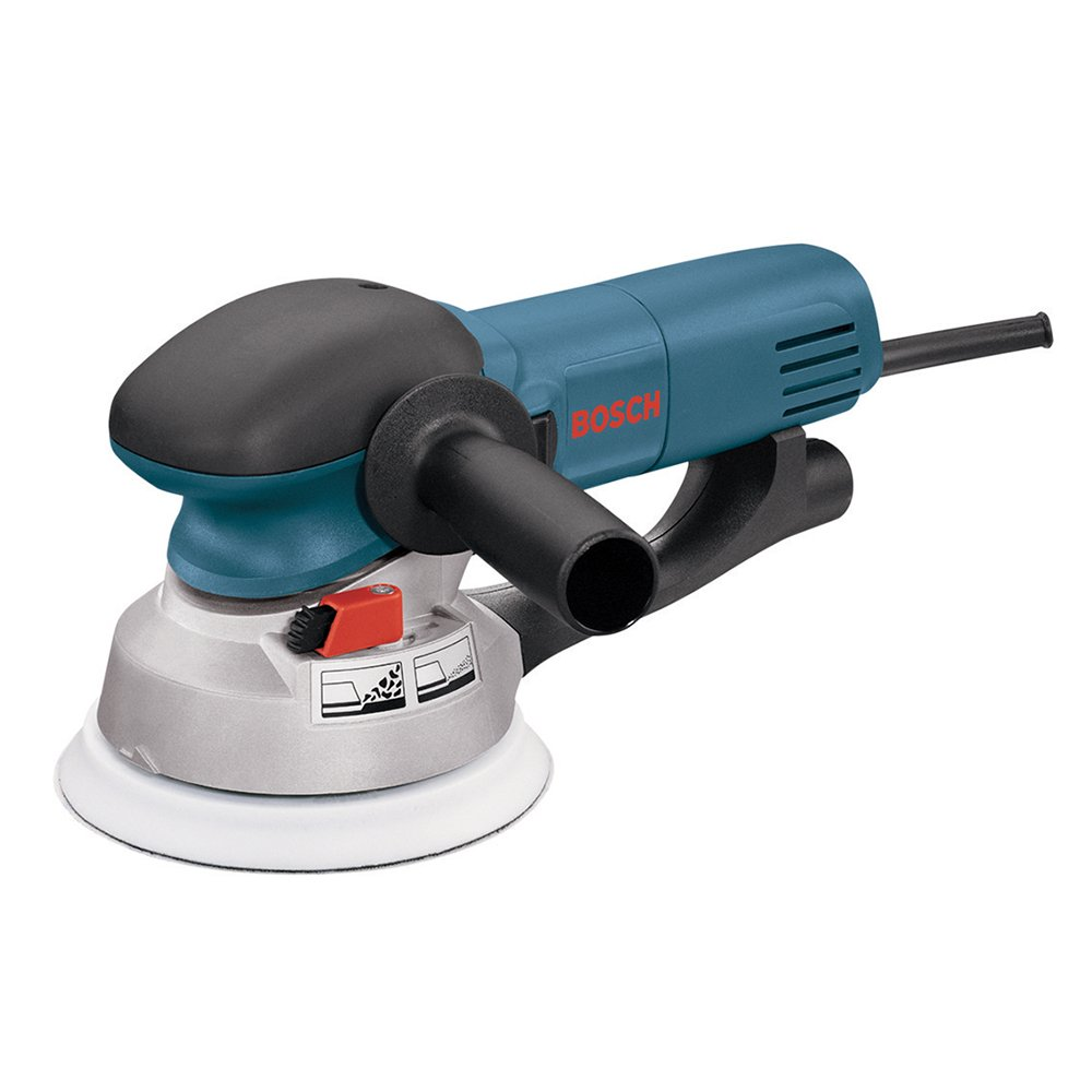 Bosch Power Tools - 1250DEVS - Electric Orbital Sander, Polisher - 6.5 Amp, Corded, 6'''' Disc Size - features Two Sanding Modes: Random Orbit, Aggressive Turbo for Woodworking, Polishing, Carpentry by Bosch