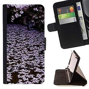 Momo Phone Case / Flip Funda de Cuero Case Cover - Árboles Lago Rosa Blanco - Sony Xperia Z3 Compact