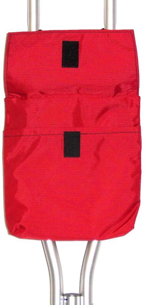 Handi Pockets 1a5rd Storage Accessory Crutch, Nylon, Red with Flap